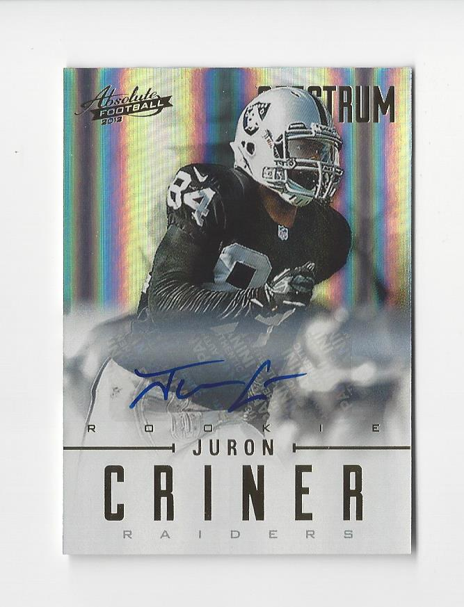 2012 Absolute Spectrum Gold Autographs #150 Juron Criner/299