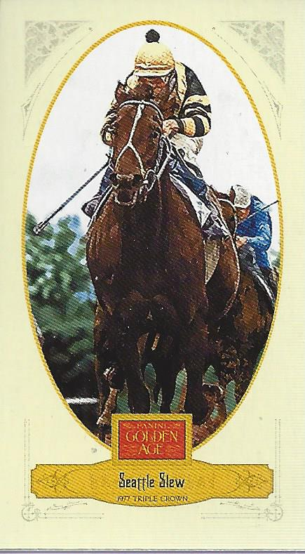 2012 Panini Golden Age Mini Broadleaf Blue Ink #114 Seattle Slew