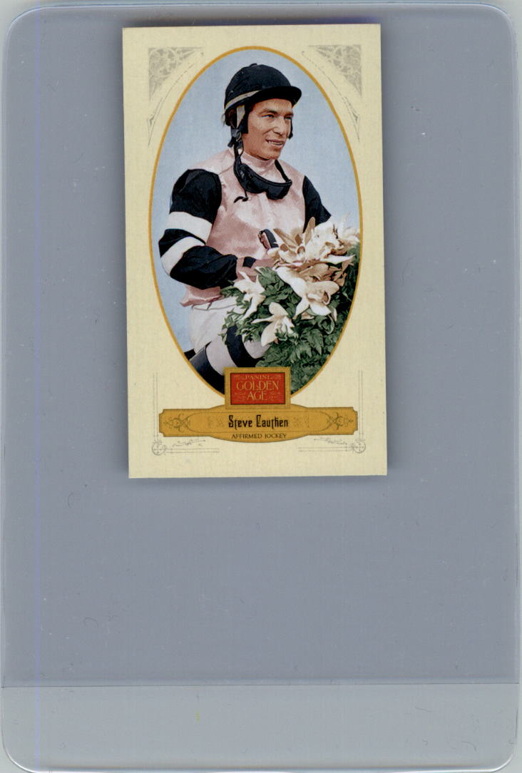 2012 Panini Golden Age Mini Crofts Candy Red Ink #125 Steve Cauthen