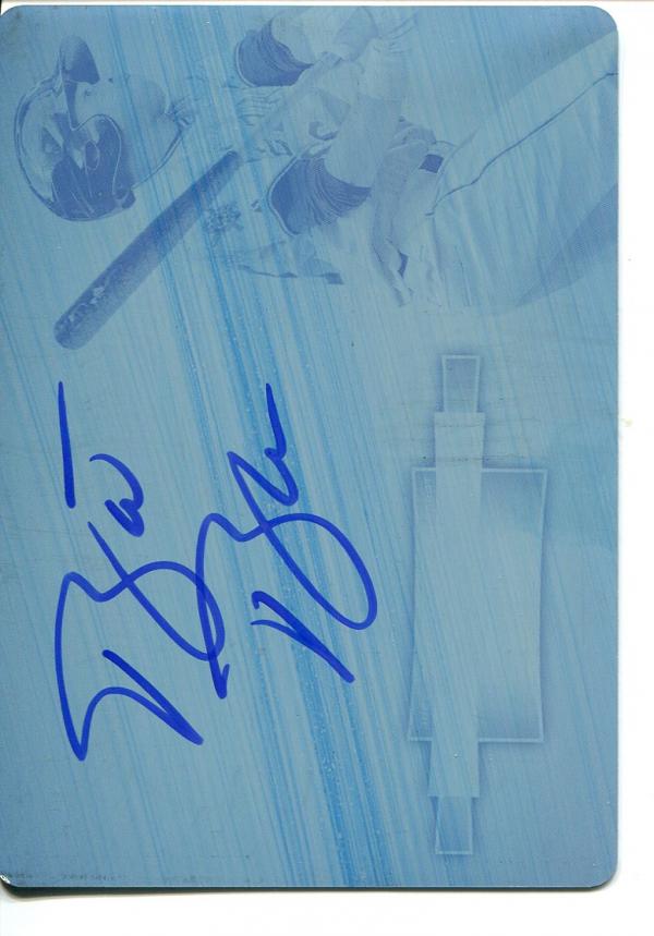 2012 Bowman Sterling Prospect Autographs Printing Plates Cyan #BB Barrett Barnes