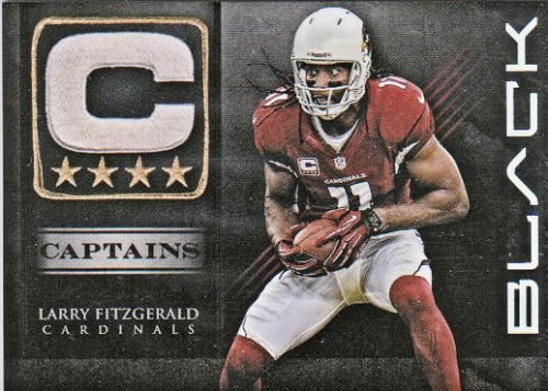 2012 Panini Black Captains #1 Larry Fitzgerald
