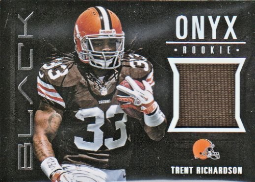 2012 Panini Black Onyx Rookie Materials #3 Trent Richardson