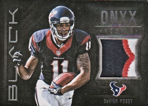 2012 Panini Black Onyx Rookie Materials Prime #33 DeVier Posey
