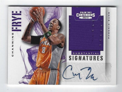 2012-13 Panini Contenders Substantial Signatures Materials #53 Channing Frye/149