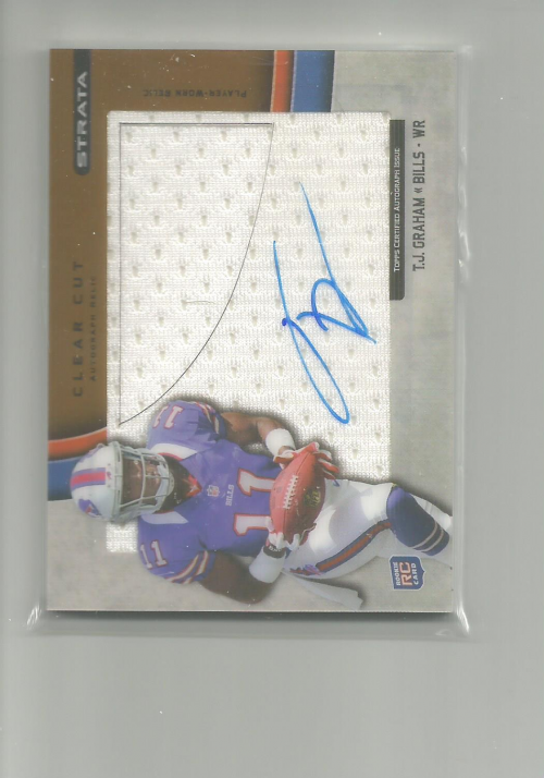 2012 Topps Strata Clear Cut Rookie Relic Autographs Bronze #CCARTJG T.J. Graham