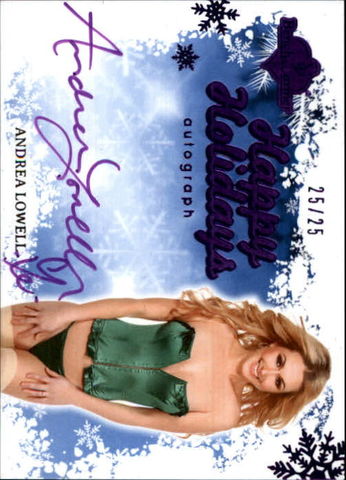 2012 Bench Warmer Holiday Autographs Blue Purple Foil #1 Andrea Lowell