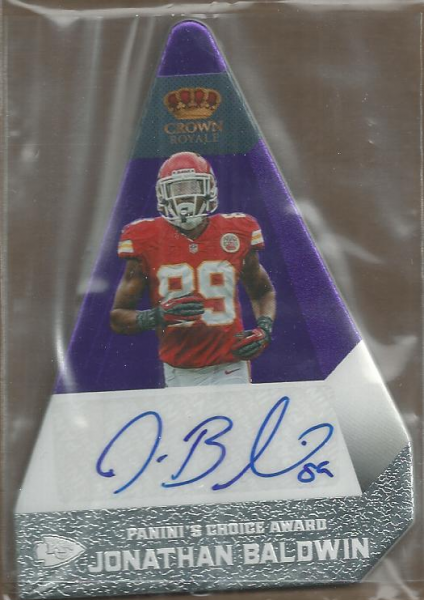 2012 Crown Royale Panini's Choice Autographs Purple #55 Jonathan Baldwin/10