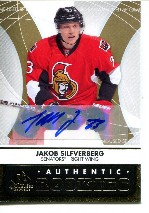 2012-13 SP Game Used Gold Autographs #137 Jakob Silfverberg