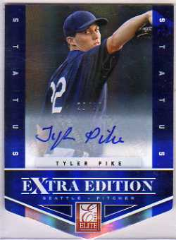 2012 Elite Extra Edition Signature Status Blue #43 Tyler Pike