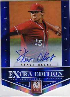 2012 Elite Extra Edition Signature Status Blue #172 Steve Okert