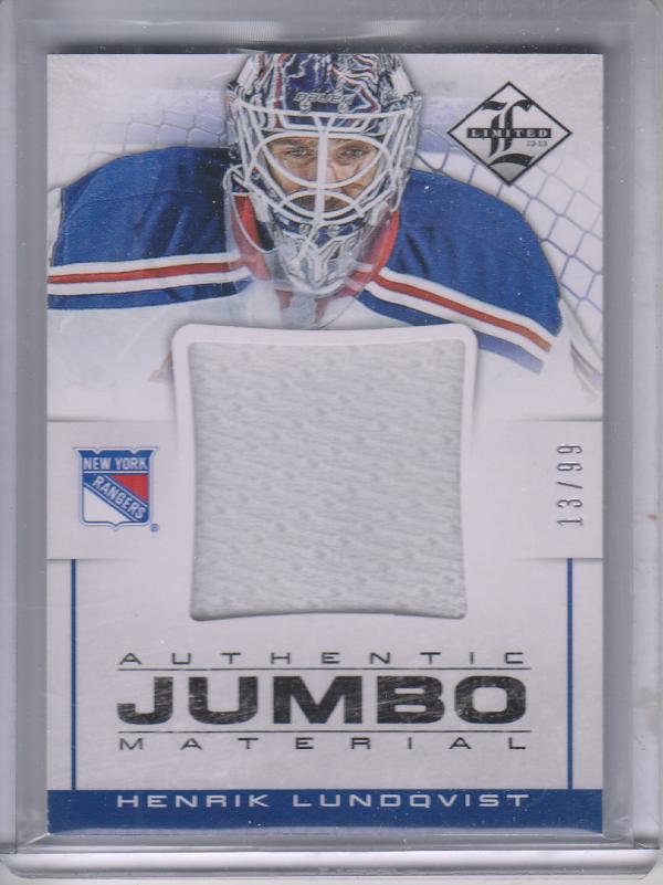 2012-13 Limited Jumbo Materials #JJHL Henrik Lundqvist/99