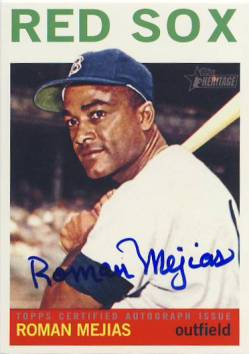 2013 Topps Heritage Real One Autographs #RM Roman Mejias