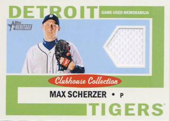 2013 Topps Heritage Clubhouse Collection Relics #MS Max Scherzer