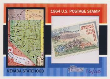 2013 Topps Heritage Framed Stamps #NS Nevada Statehood