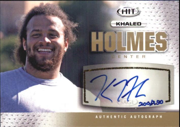 2013 SAGE HIT Autographs Silver #A129 Khaled Holmes