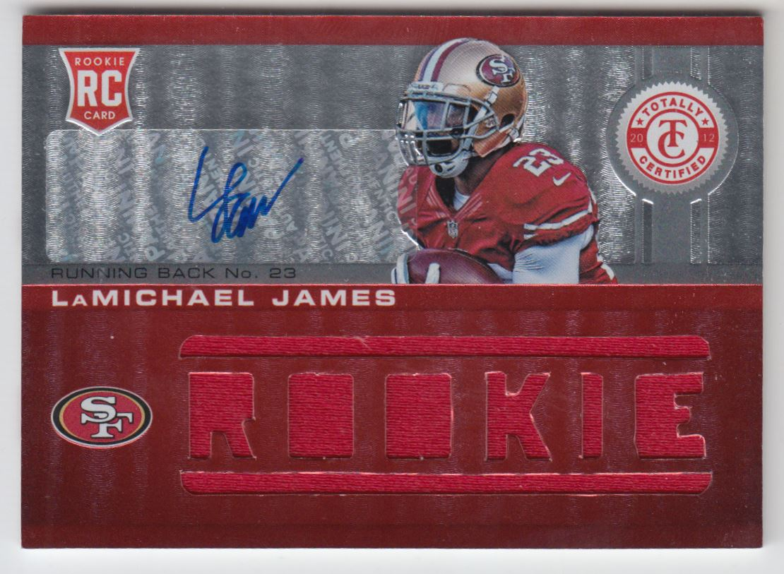 2012 Totally Certified #220 LaMichael James JSY AU/199 RC