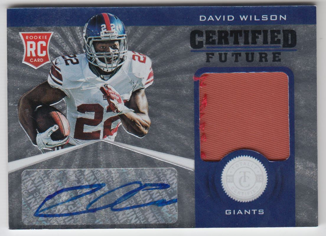 2012 Totally Certified Future Signature Materials Prime #11 David Wilson/49