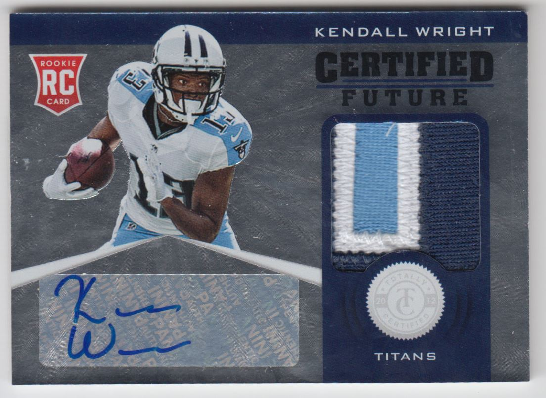 2012 Totally Certified Future Signature Materials Prime #19 Kendall Wright/49
