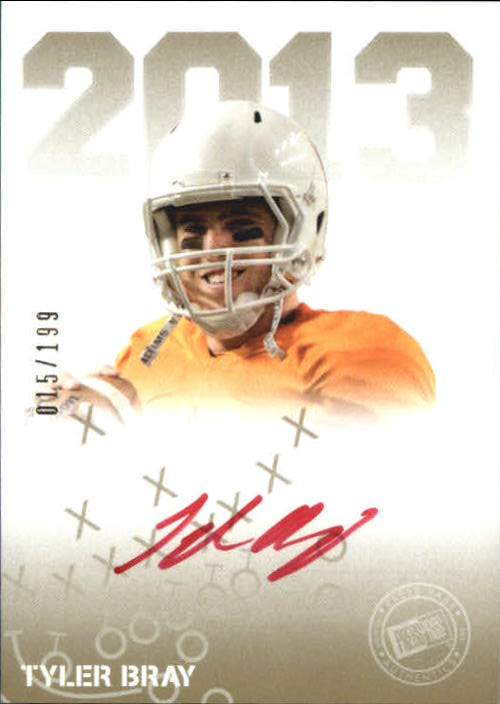 2013 Press Pass Autographs Gold Red Ink #TB Tyler Bray/30*