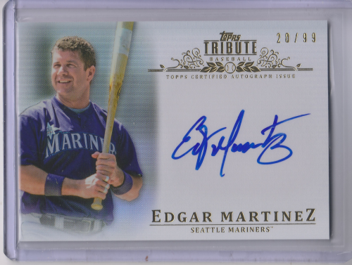 2013 Topps Tribute Autographs #EM Edgar Martinez