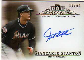 2013 Topps Tribute Autographs #GS Giancarlo Stanton