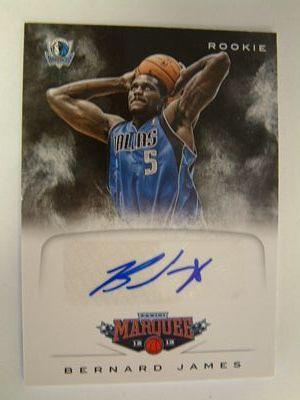 2012-13 Panini Marquee Rookie Signatures #50 Bernard James
