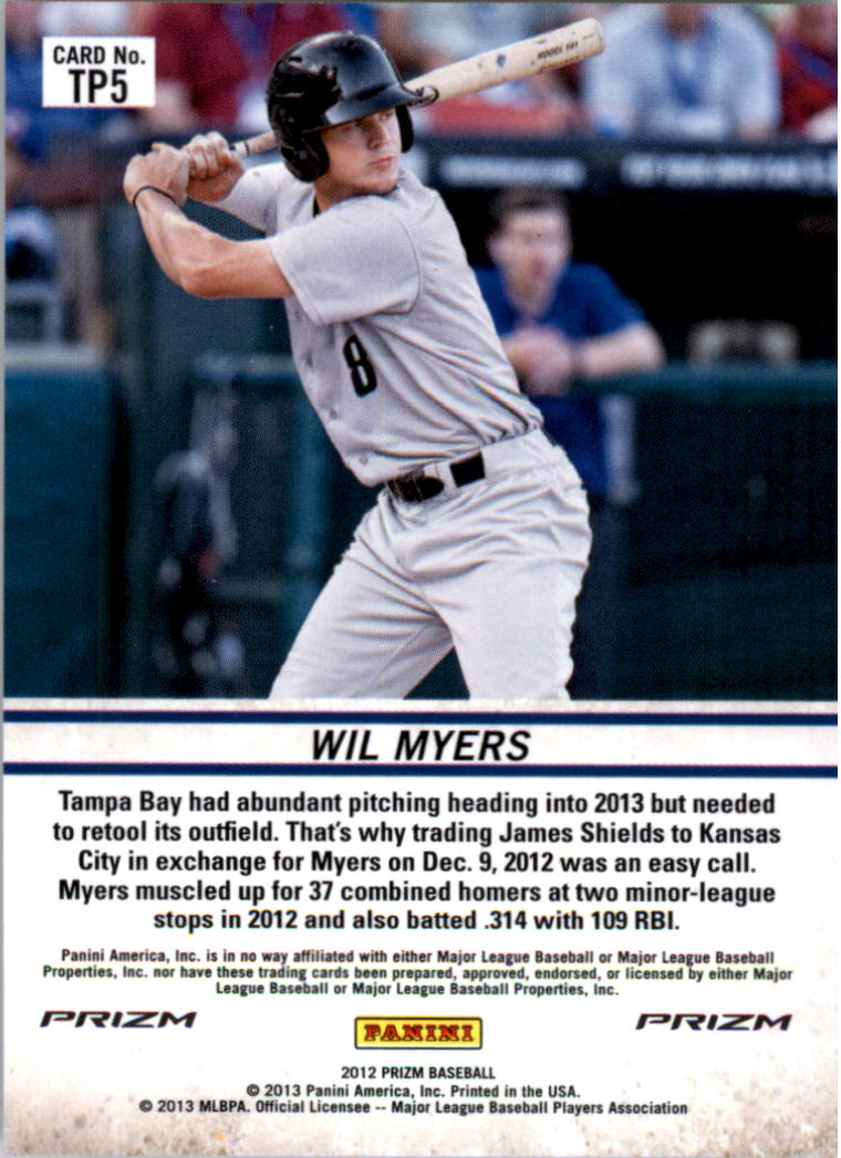 2012 Panini Prizm Top Prospects Prizms #TP5 Wil Myers back image