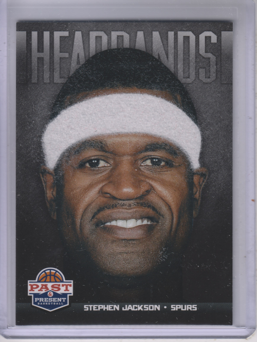 2012-13 Panini Past and Present Headbands #19 Stephen Jackson