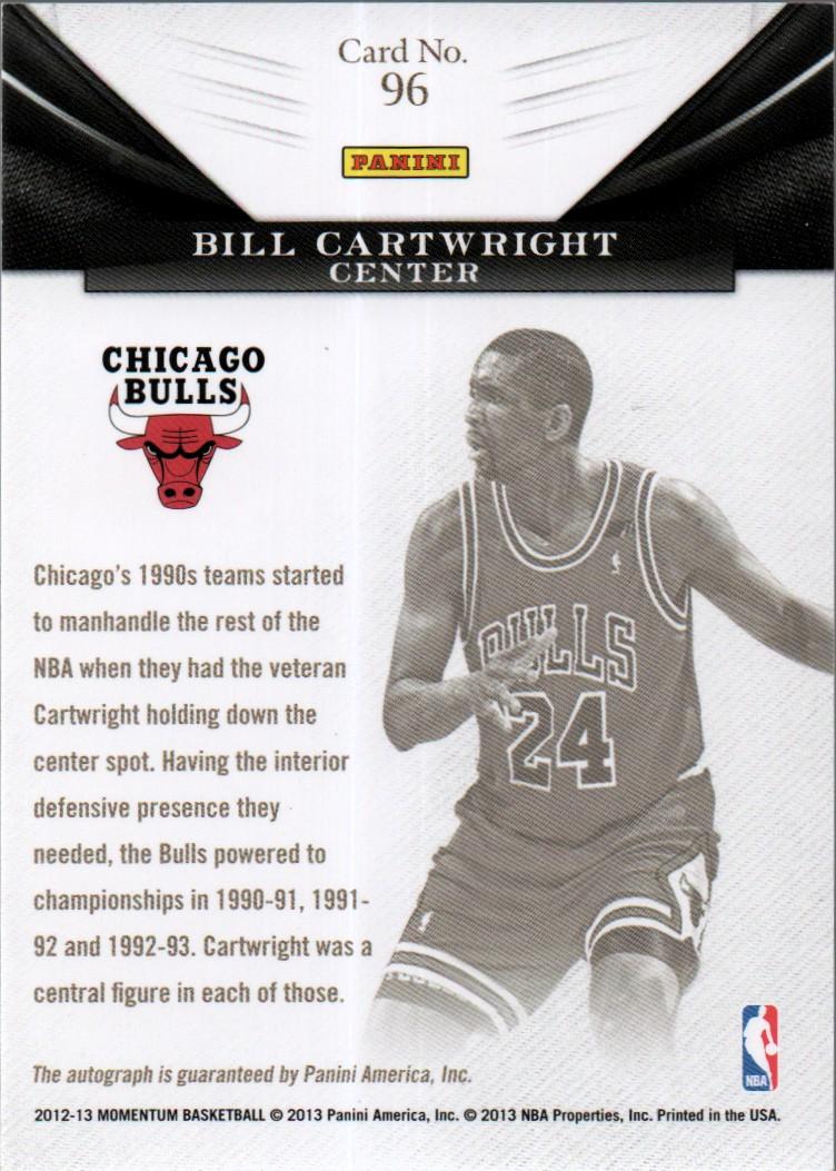 2012-13 Momentum Monumental Marks #96 Bill Cartwright/25 back image