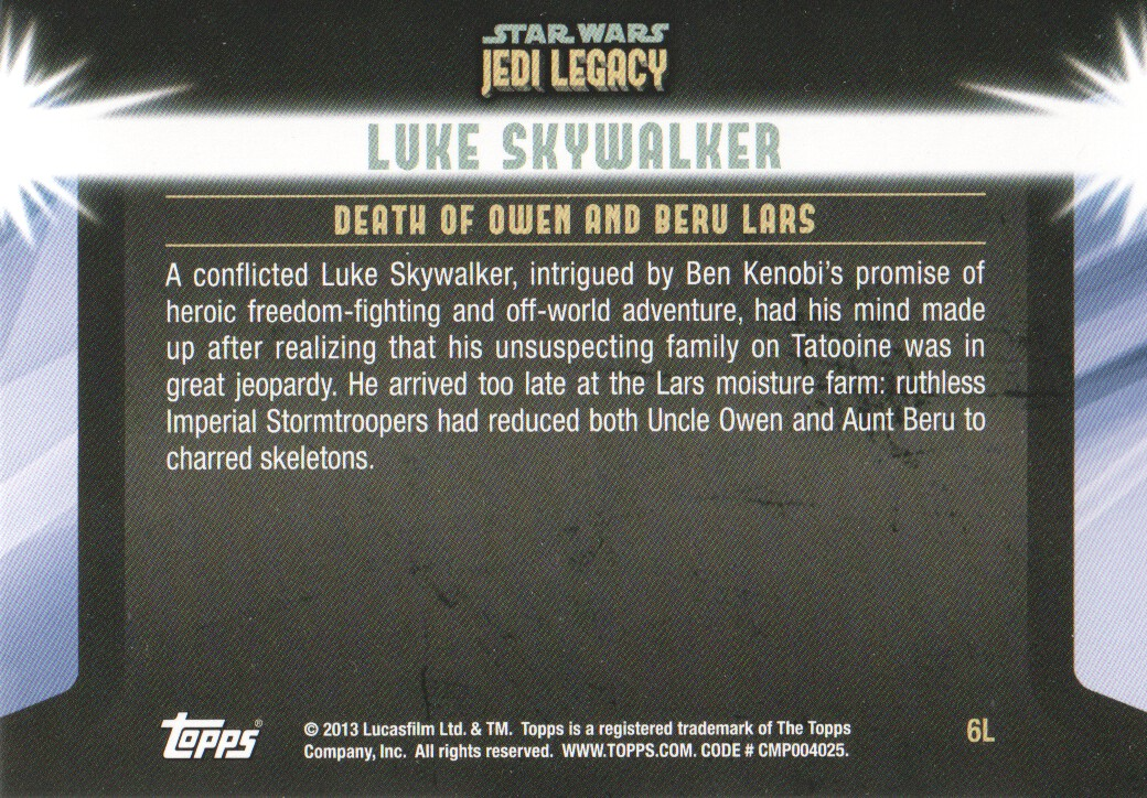 2013-Topps-Star-Wars-Jedi-Legacy-Parallels-Trading-Cards-Pick-From-List miniature 15