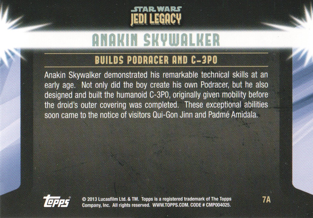 2013-Topps-Star-Wars-Jedi-Legacy-Parallels-Trading-Cards-Pick-From-List miniature 17