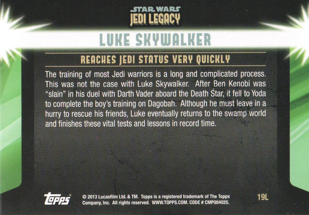 2013-Topps-Star-Wars-Jedi-Legacy-Parallels-Trading-Cards-Pick-From-List miniature 49
