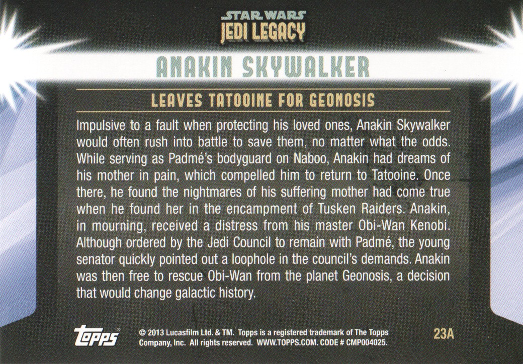 2013-Topps-Star-Wars-Jedi-Legacy-Parallels-Trading-Cards-Pick-From-List miniature 59