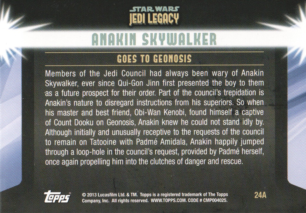 2013-Topps-Star-Wars-Jedi-Legacy-Parallels-Trading-Cards-Pick-From-List miniature 61