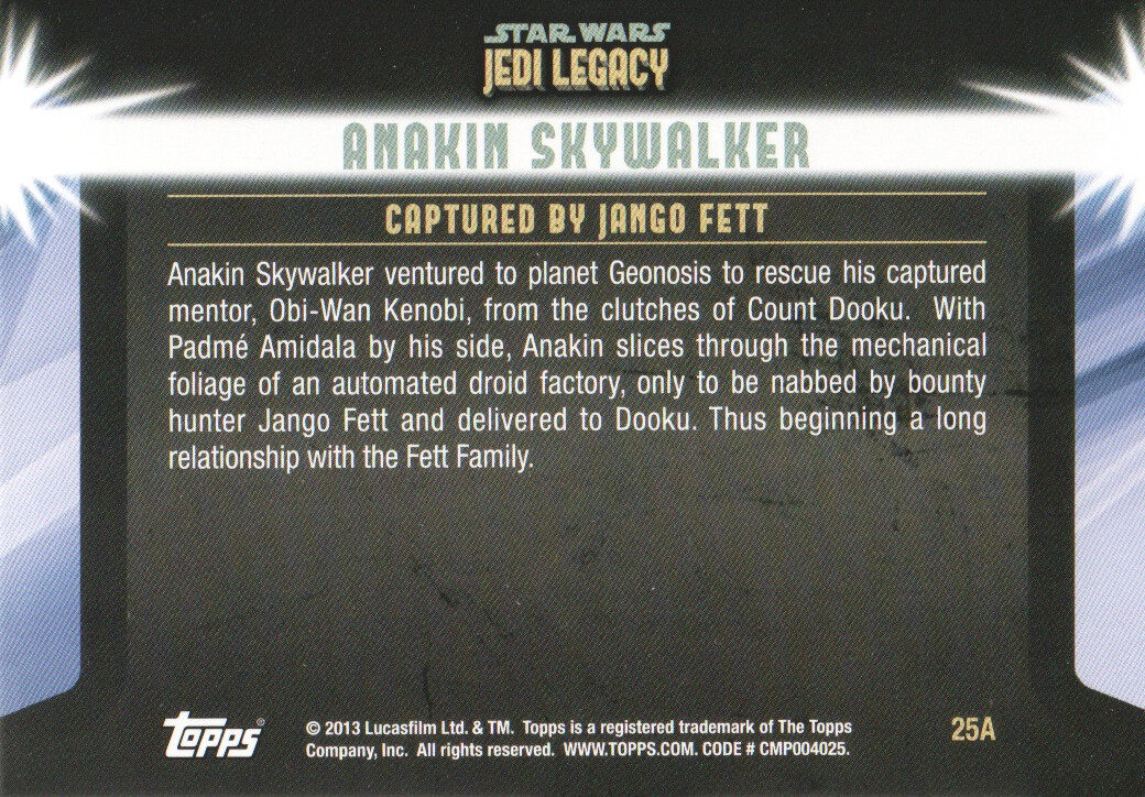 2013-Topps-Star-Wars-Jedi-Legacy-Parallels-Trading-Cards-Pick-From-List miniature 65