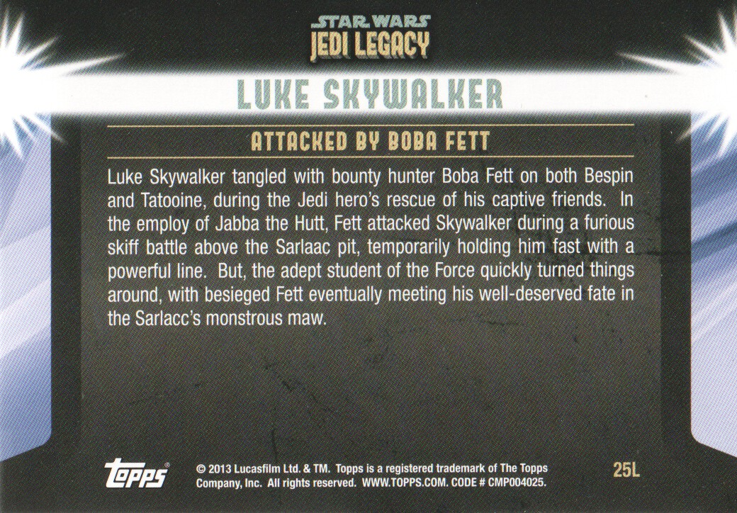 2013-Topps-Star-Wars-Jedi-Legacy-Parallels-Trading-Cards-Pick-From-List miniature 67