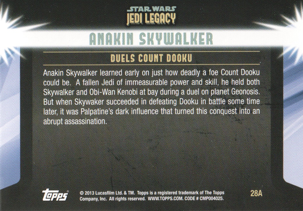 2013-Topps-Star-Wars-Jedi-Legacy-Parallels-Trading-Cards-Pick-From-List miniature 75