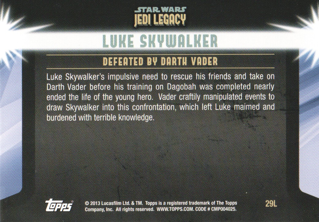 2013-Topps-Star-Wars-Jedi-Legacy-Parallels-Trading-Cards-Pick-From-List miniature 79