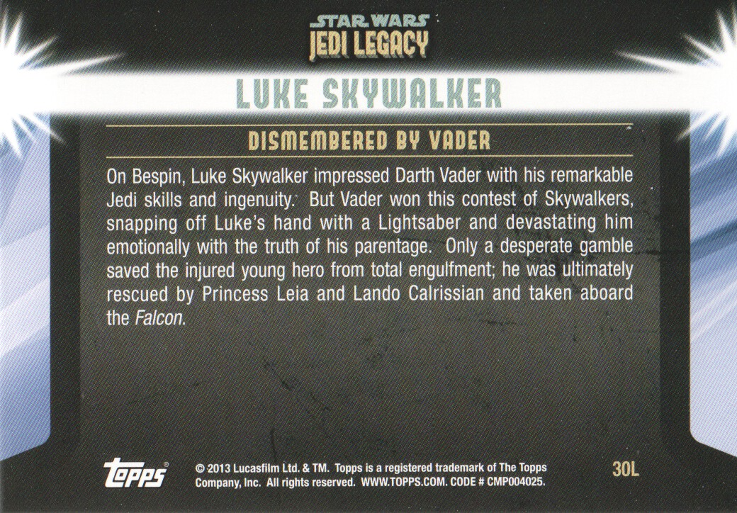 2013-Topps-Star-Wars-Jedi-Legacy-Parallels-Trading-Cards-Pick-From-List miniature 81