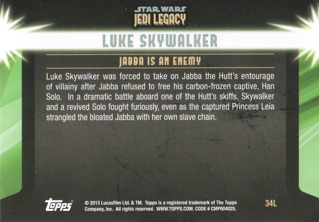 2013-Topps-Star-Wars-Jedi-Legacy-Parallels-Trading-Cards-Pick-From-List miniature 89