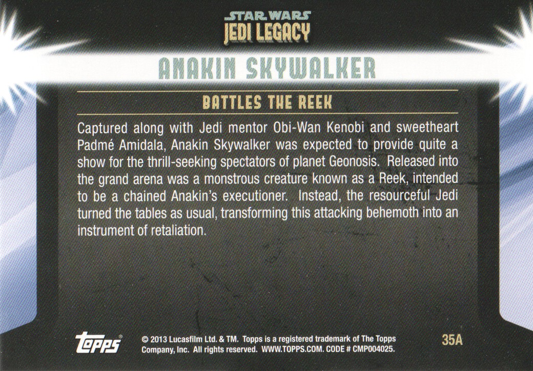 2013-Topps-Star-Wars-Jedi-Legacy-Parallels-Trading-Cards-Pick-From-List miniature 91