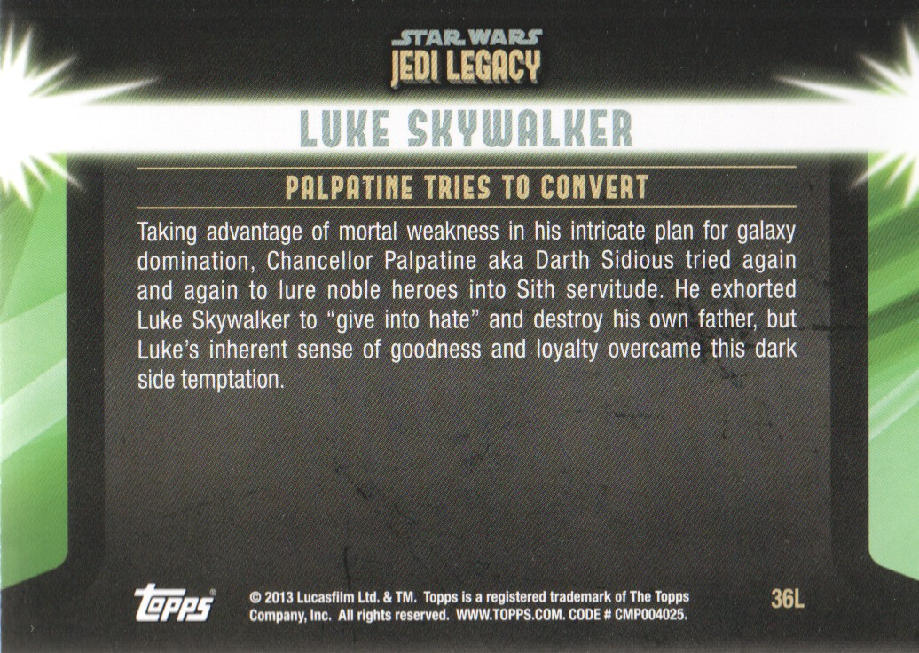 2013-Topps-Star-Wars-Jedi-Legacy-Parallels-Trading-Cards-Pick-From-List miniature 97