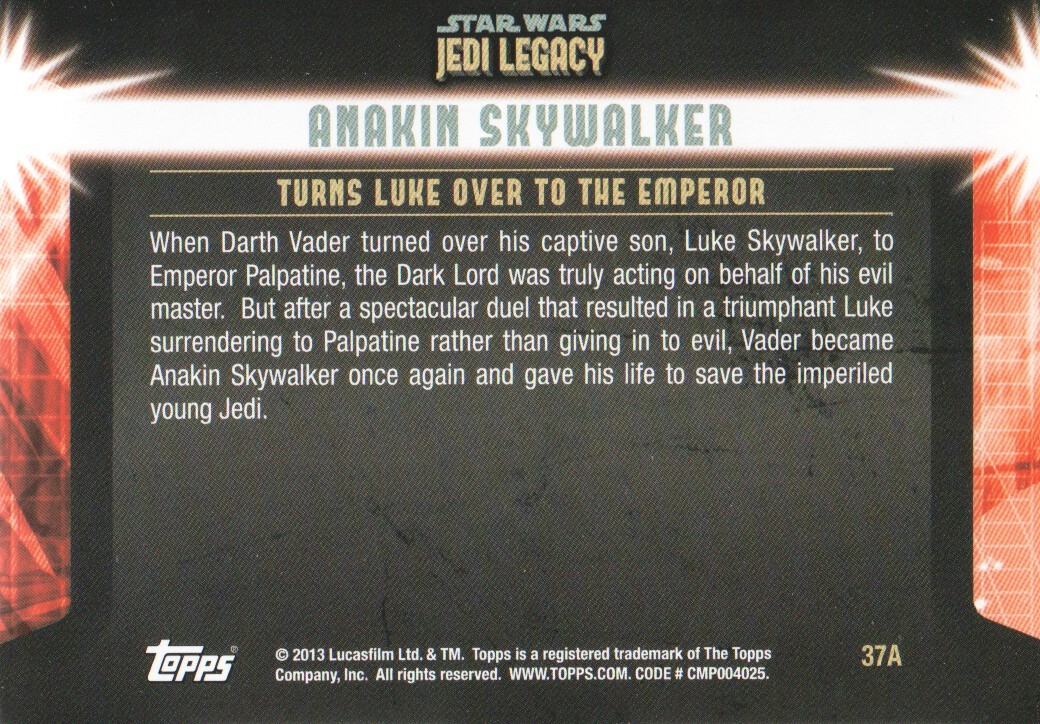 2013-Topps-Star-Wars-Jedi-Legacy-Parallels-Trading-Cards-Pick-From-List miniature 99