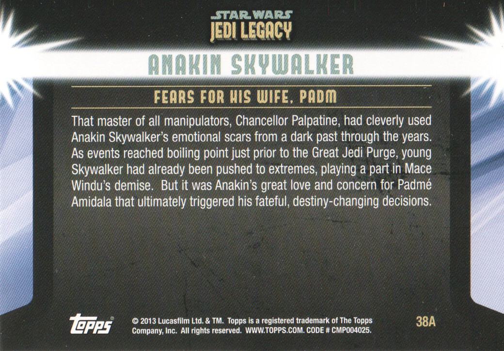 2013-Topps-Star-Wars-Jedi-Legacy-Parallels-Trading-Cards-Pick-From-List miniature 101