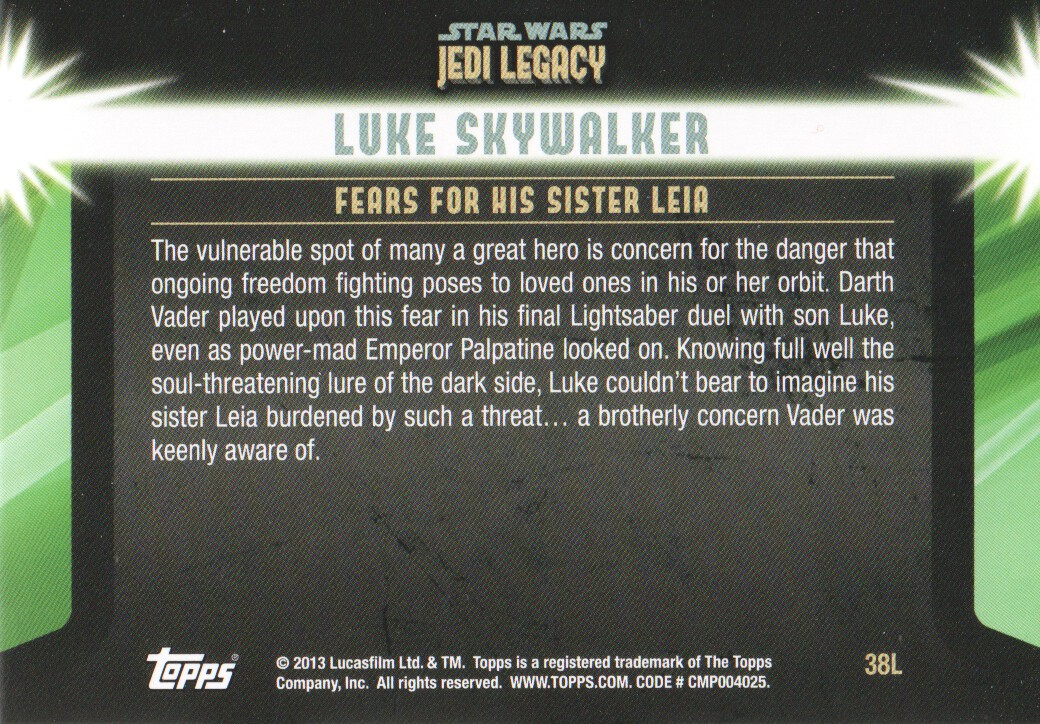 2013-Topps-Star-Wars-Jedi-Legacy-Parallels-Trading-Cards-Pick-From-List miniature 103