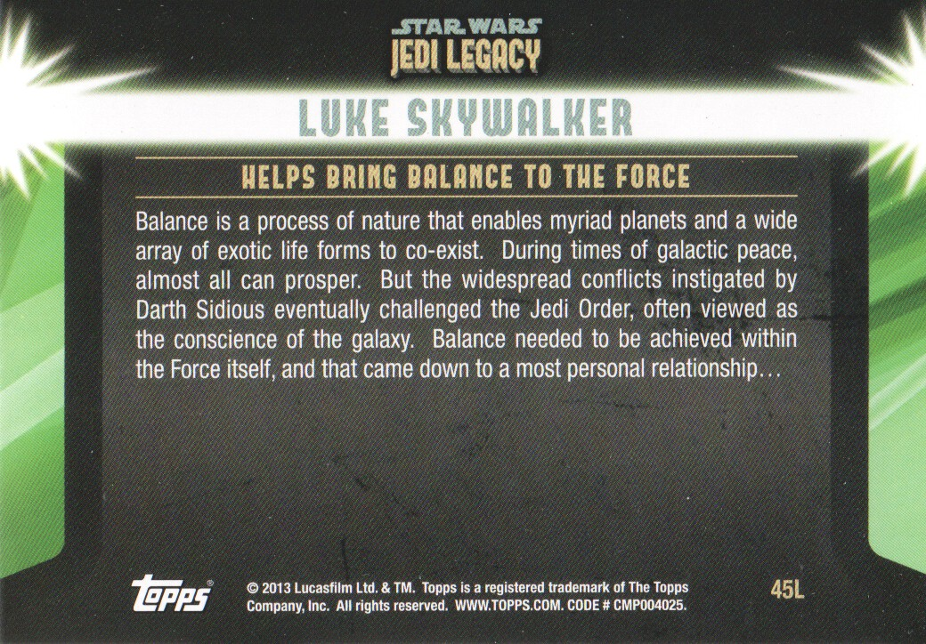 2013-Topps-Star-Wars-Jedi-Legacy-Parallels-Trading-Cards-Pick-From-List miniature 117