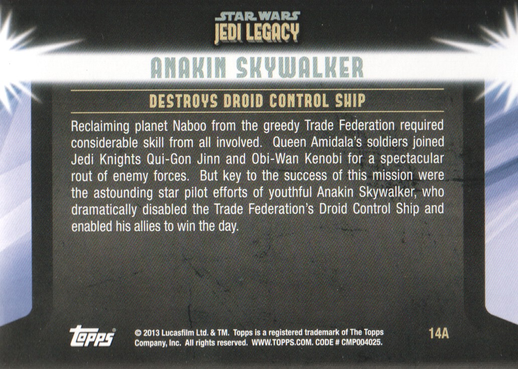 2013-Topps-Star-Wars-Jedi-Legacy-Parallels-Trading-Cards-Pick-From-List miniature 137