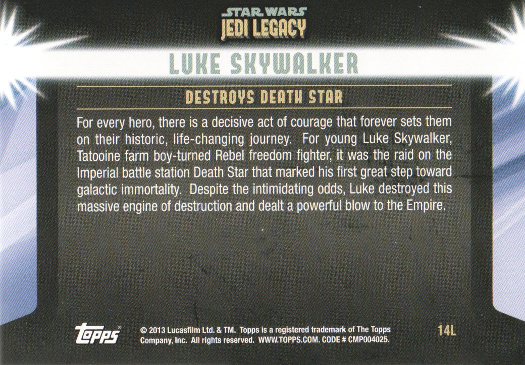 2013-Topps-Star-Wars-Jedi-Legacy-Parallels-Trading-Cards-Pick-From-List miniature 139
