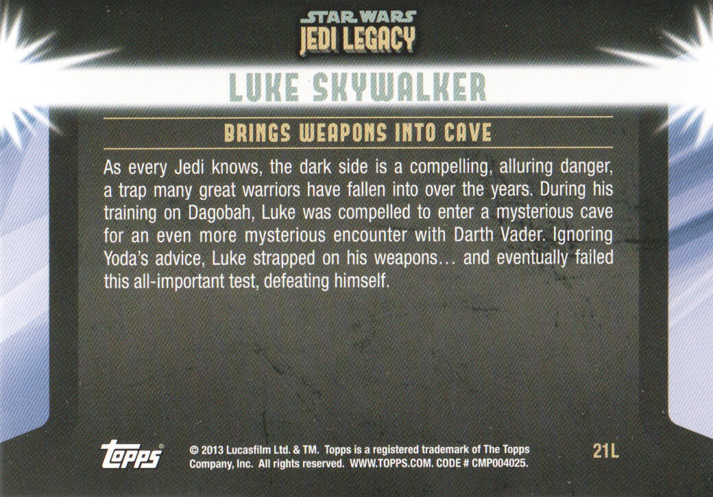 2013-Topps-Star-Wars-Jedi-Legacy-Parallels-Trading-Cards-Pick-From-List miniature 147