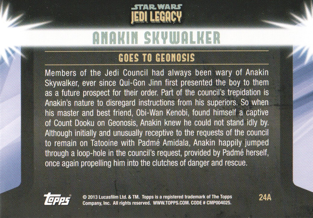 2013-Topps-Star-Wars-Jedi-Legacy-Parallels-Trading-Cards-Pick-From-List miniature 151
